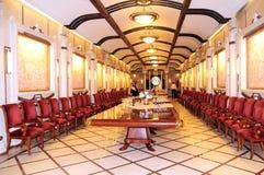 Underground wine sampling hall.  The wine cellars of Cricova is second largest wine cellar in Moldova Stock Image