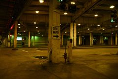 Underground World. Urban Underground World. Underground Level of Downtown Chicago, Illinois. Cities Photo Collection Royalty Free Stock Photo