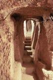 undergroundcaves портрета derinkuyu Стоковое Изображение RF