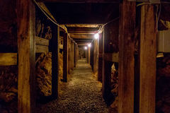 Undergroung mine passage in the mountains Stock Photography
