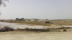 Underhåll av odlingfält Arkivbilder