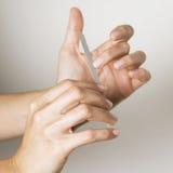 Underhåll fingernails royaltyfri fotografi