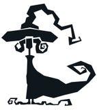 underhållande silhouettehäxa Royaltyfri Bild