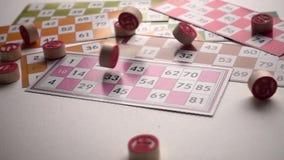 Underhållning för lek för lottoBingoTombala dobbleri arkivfilmer