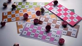 Underhållning för lek för lottoBingoTombala dobbleri lager videofilmer
