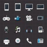 Underhållning och elektroniska symboler Royaltyfria Foton