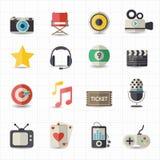 Underhållningfilmsymboler Royaltyfria Bilder