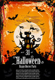 underhållningreklambladet hallowen den suggestiva deltagaren royaltyfri illustrationer