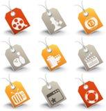 Underhållningsymboler Arkivbild