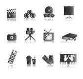 underhållningsymbolssilver stock illustrationer
