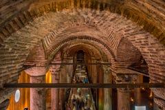 Underjordisk basilikacistern, Istanbul, Turkiet fotografering för bildbyråer