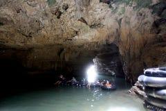 Underjordisk flod Arkivfoto