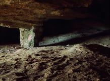 Underjordisk grottaingång Royaltyfria Foton