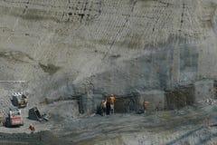 Underjordisk konstruktionsplats Royaltyfri Bild