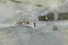 Underjordisk konstruktionsplats Fotografering för Bildbyråer