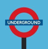 Underjordisk london England lägenhetdesign Royaltyfri Bild