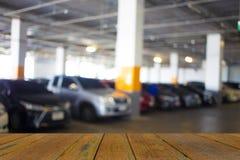 Underjordisk parkering med bilen Royaltyfria Bilder