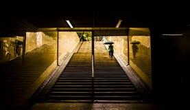 Underjordisk passage Royaltyfri Foto