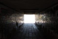 Underjordisk passage Arkivfoton