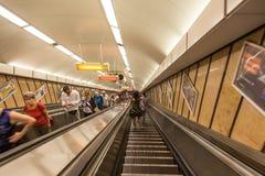Underjordisk passage Budapest för gångtunnelstation Royaltyfri Fotografi