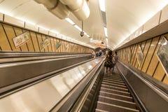 Underjordisk passage Budapest för gångtunnelstation Arkivfoto