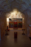 Underjordisk serbisk ortodox kyrka i Coober Pedy Arkivbild
