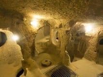 Underjordisk stad av Kaymakli, Turkiet Royaltyfria Bilder