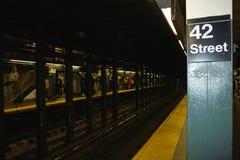 underjordisk station för 42nd gata Arkivfoto
