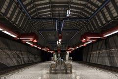 Underjordisk station gelsenkirchen Tyskland Arkivbilder