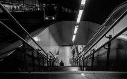 Underjordisk station i Madrid royaltyfria bilder