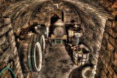 underjordisk tappning Arkivfoton