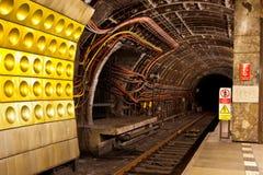 Underjordisk tunnel Fotografering för Bildbyråer
