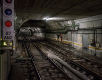 Underjordisk tunnel Arkivfoto