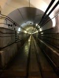 Underjordisk tunnel av den Maginot linjen Ouvrage Schoenenbourg Alsace Francei 2016 Royaltyfri Fotografi