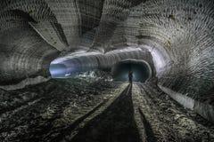 Underjordiska miner Ukraina Donetsk Arkivbild