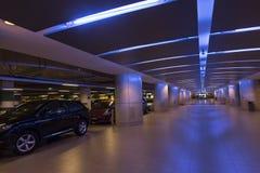 Underjordiskt garage i Singapore Royaltyfria Bilder
