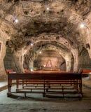 Underjordiskt kapell i den salta minen - Zipaquira, Colombia Royaltyfri Bild