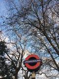 Underjordiskt london träd royaltyfri fotografi
