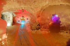 Underjordiskt permafrostmuseum på Yakutsk Ryssland Arkivbilder