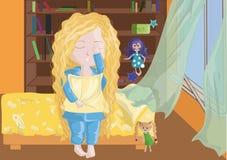 underlagflicka little Royaltyfri Foto