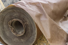 Underlayer waxed paper roll Royalty Free Stock Photo