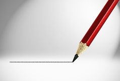 Underline. Red pencil and underline background Royalty Free Stock Photo