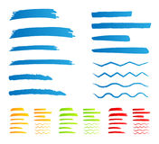 Underline markers Stock Images