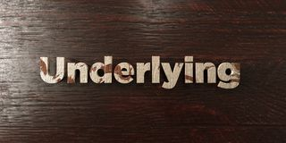 Underlying - grungy wooden headline on Maple  - 3D rendered royalty free stock image Royalty Free Stock Photo