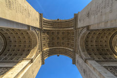 Underneath the Arc de Triomphe Royalty Free Stock Photography