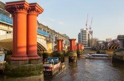 Free Underneath Blackfriars Bridge In London With Boat Stock Image - 31319101