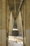 Underneath a Bridge. Underneath the Broadway Bridge in Saskatoon, Saskatchewan royalty free stock image