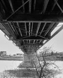 Underneath a bridge Stock Photos