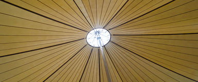 Underneath a canopy. Looking up thrpogh vent in large canopy Royalty Free Stock Image
