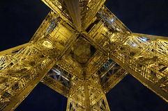 Underneath the Eiffel Tower Royalty Free Stock Photo
